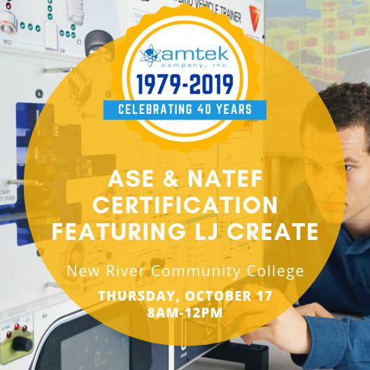 natef ase certification amtek lj featuring workshops register